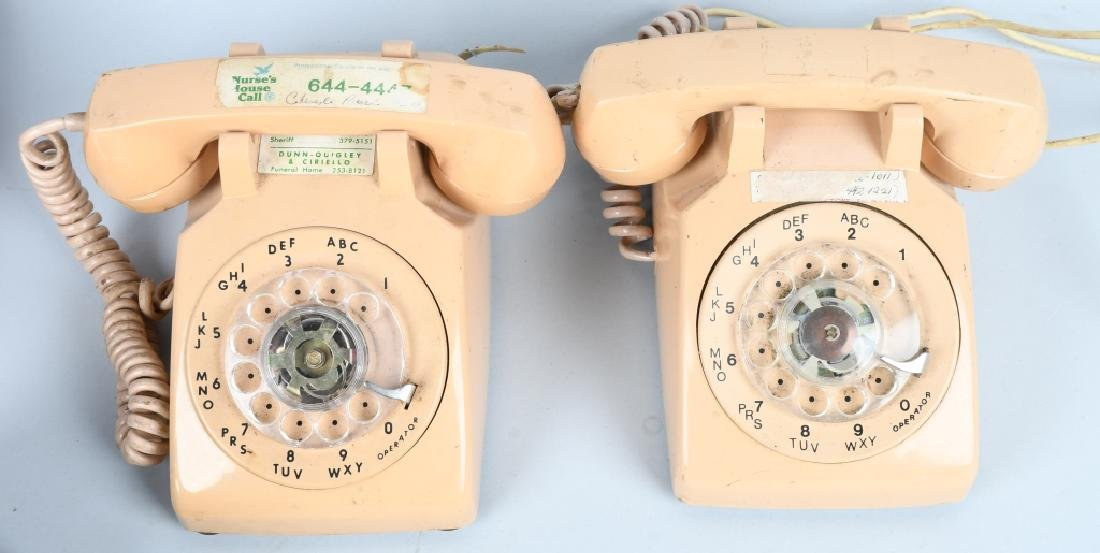 6- VINTAGE DIAL TELEPHONES Nice Colors - 2
