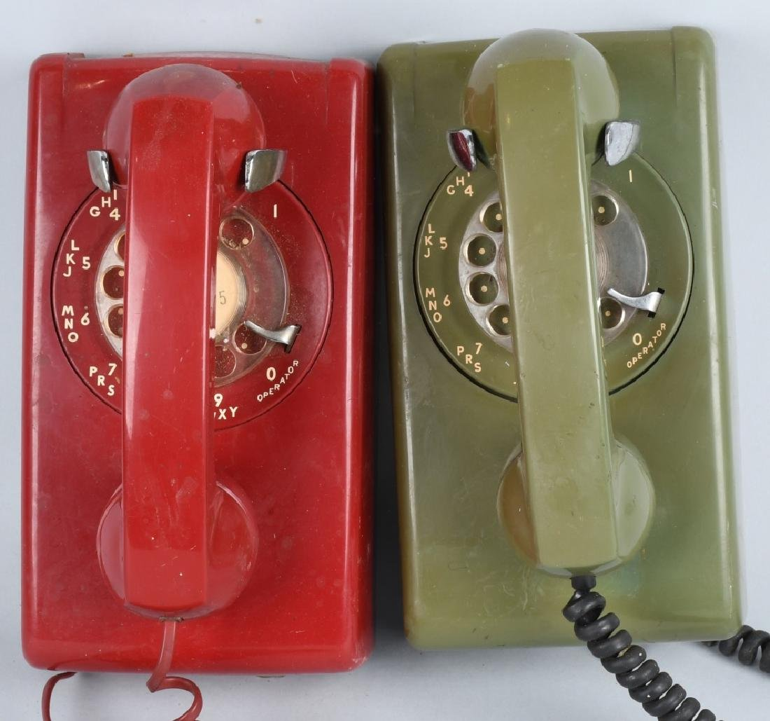 6- VINTAGE DIAL TELEPHONES Nice Colors - 4