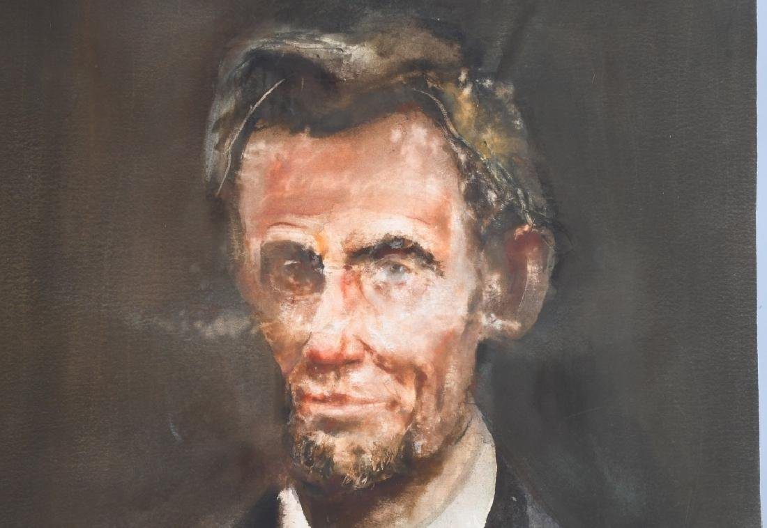 ABRAHAM LINCOLN WATER COLOR PAINTING, REA REDIFER - 2