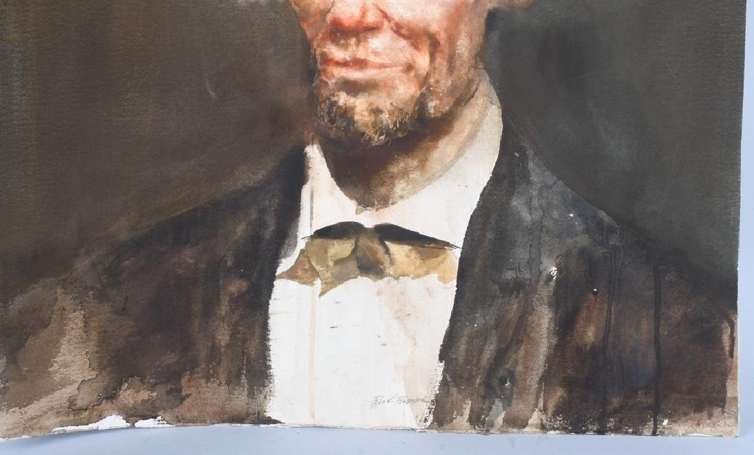 ABRAHAM LINCOLN WATER COLOR PAINTING, REA REDIFER - 3