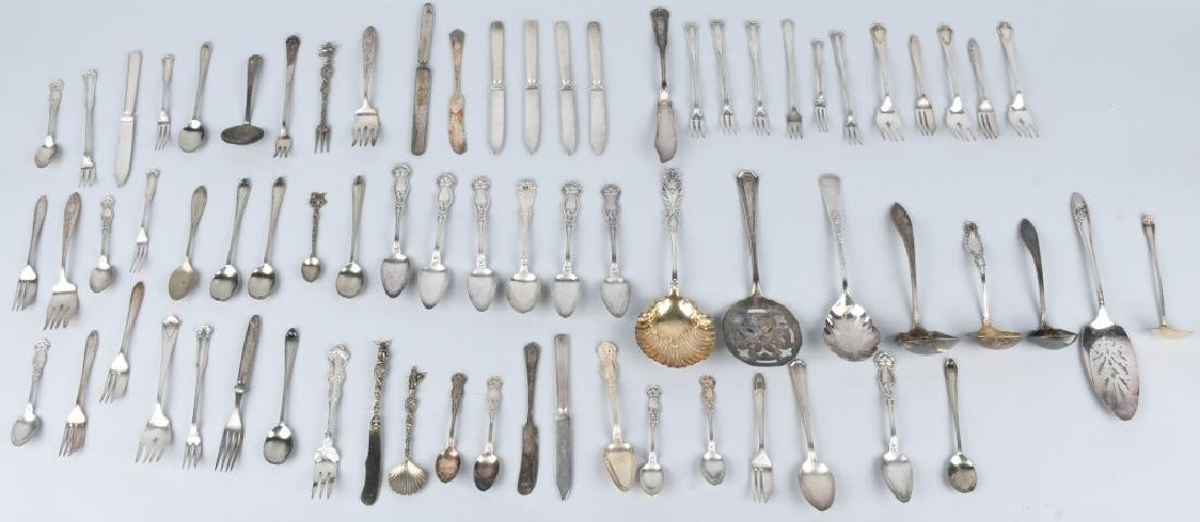 LARGE LOT OF ANTIQUE SILVERWARE