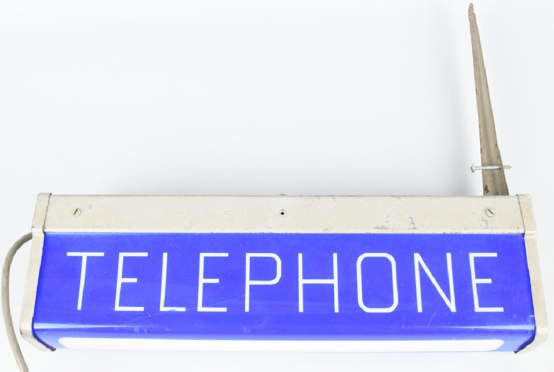 PAY TELEPHONE LIGHTUP SIGN