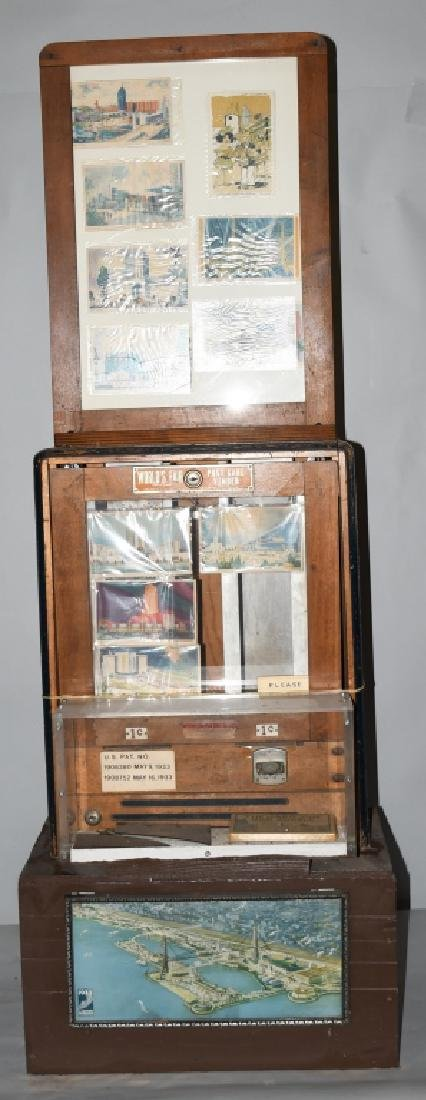 1933 WORLDS FAIR POST CARD VENDOR