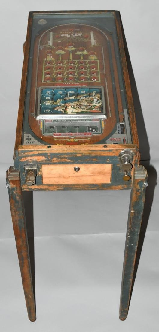 1933 CHICAGO WORLDS FAIR JIGSAW COIN-OP MACHINE
