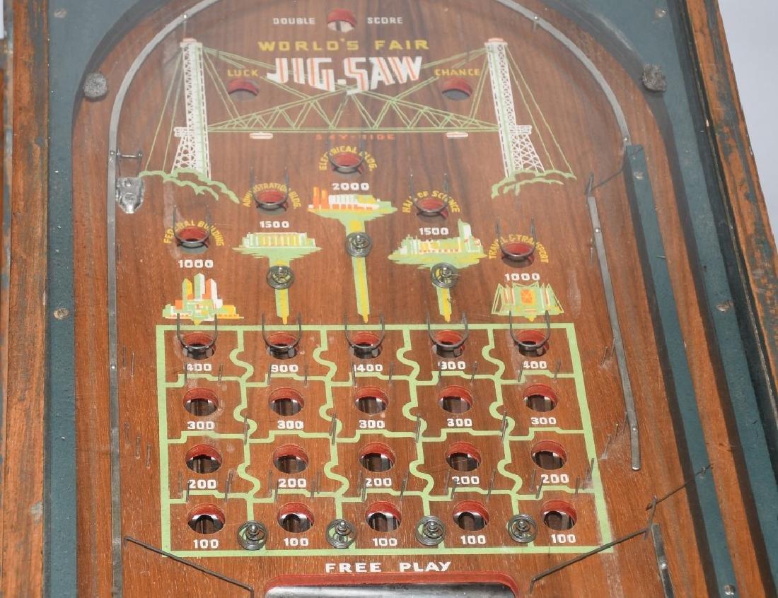 1933 CHICAGO WORLDS FAIR JIGSAW COIN-OP MACHINE - 3