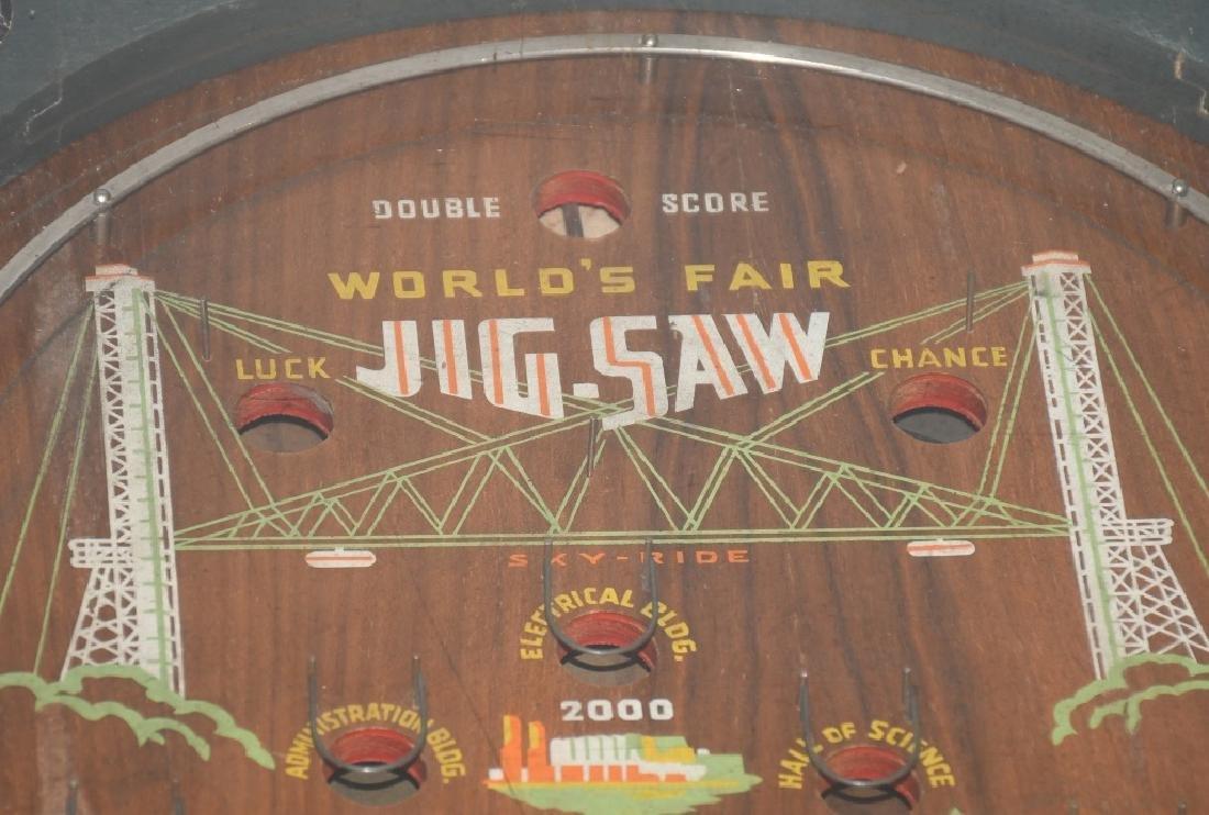 1933 CHICAGO WORLDS FAIR JIGSAW COIN-OP MACHINE - 4