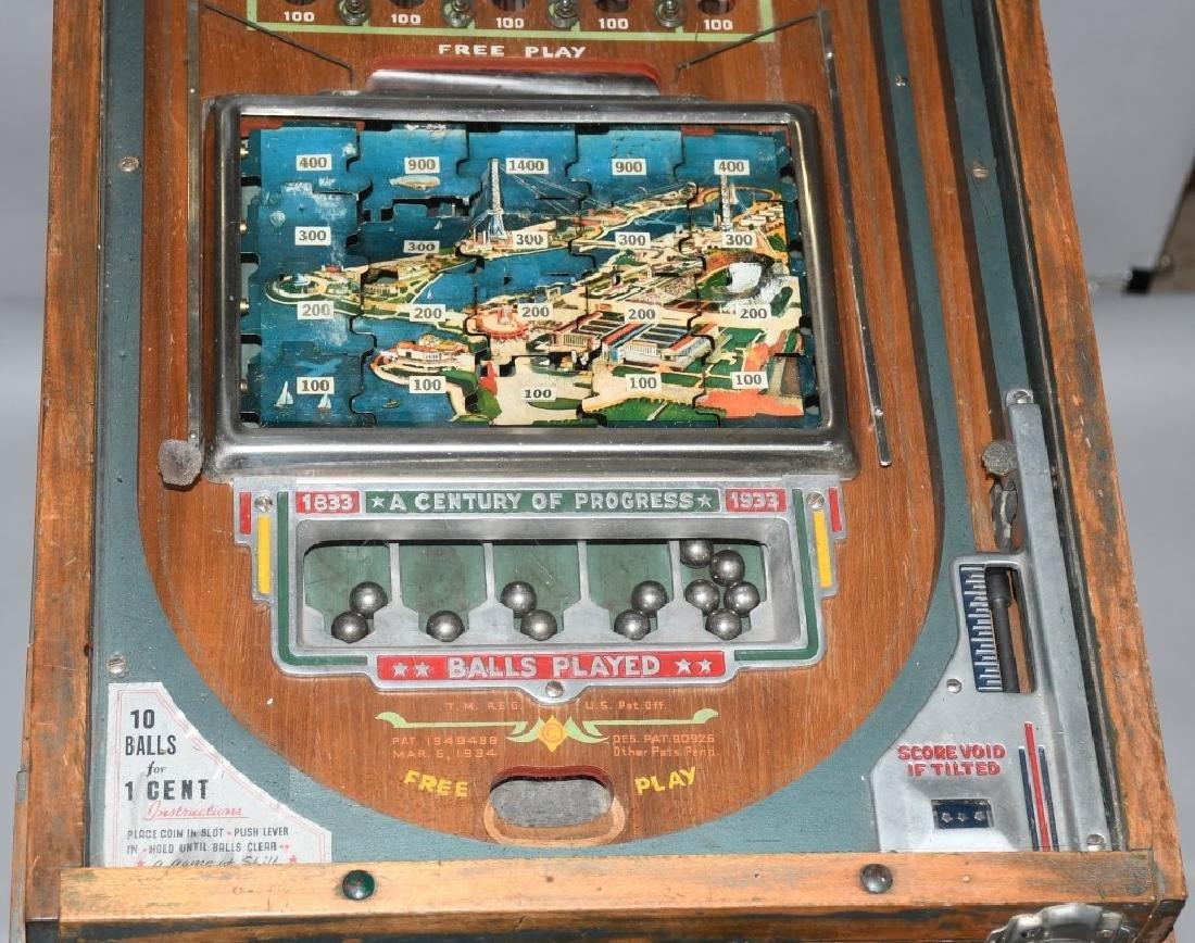1933 CHICAGO WORLDS FAIR JIGSAW COIN-OP MACHINE - 5