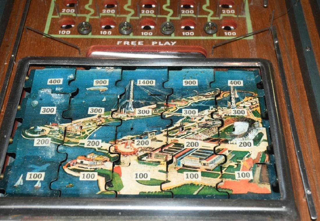 1933 CHICAGO WORLDS FAIR JIGSAW COIN-OP MACHINE - 8
