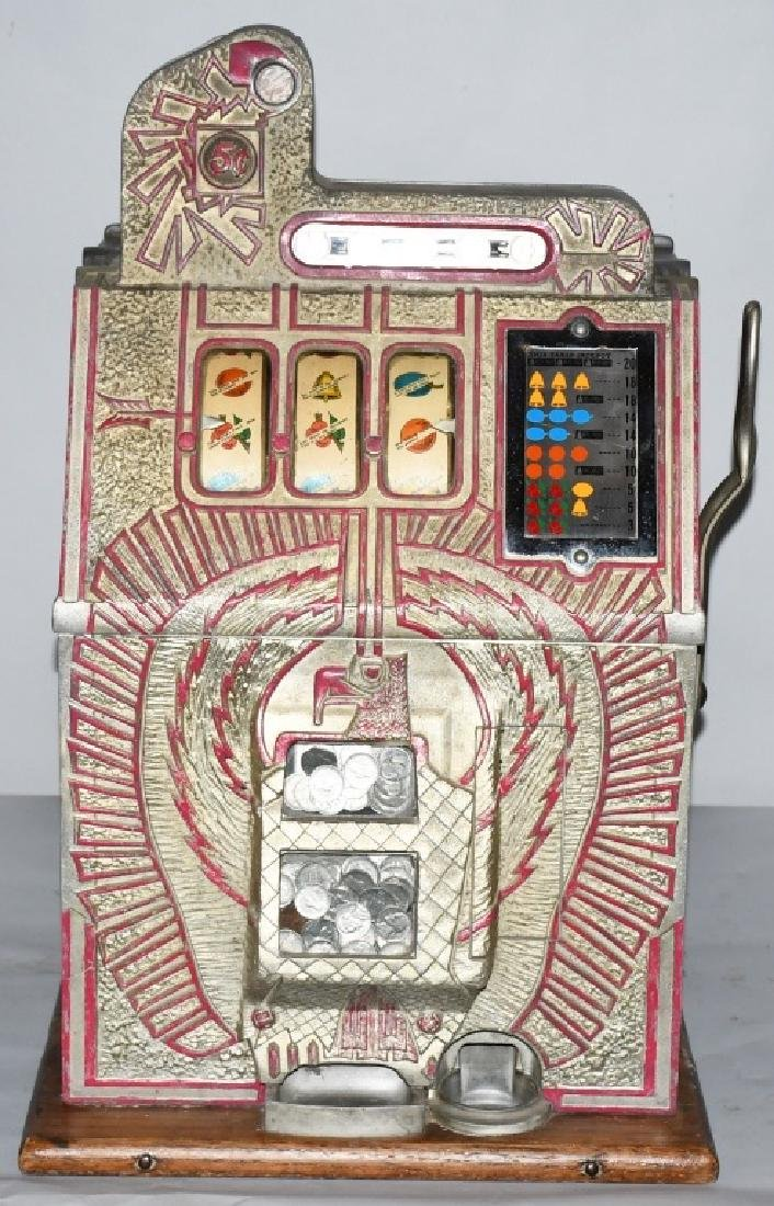 MILLS 5c WAR EAGLE SLOT MACHINE