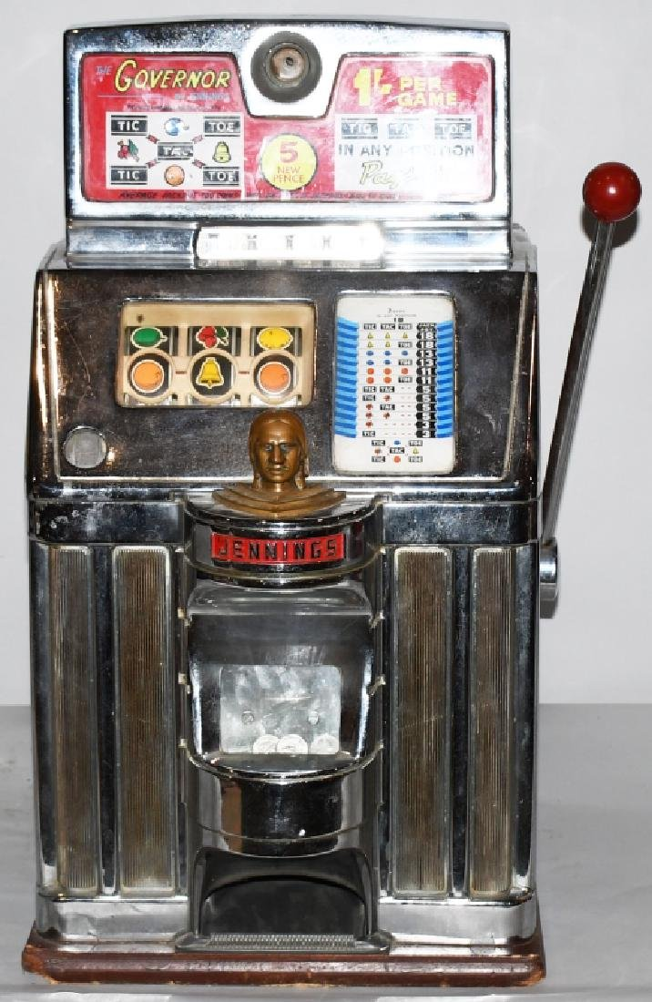JENNINGS 25c GOVERNOR CHIEF SLOT MACHINE