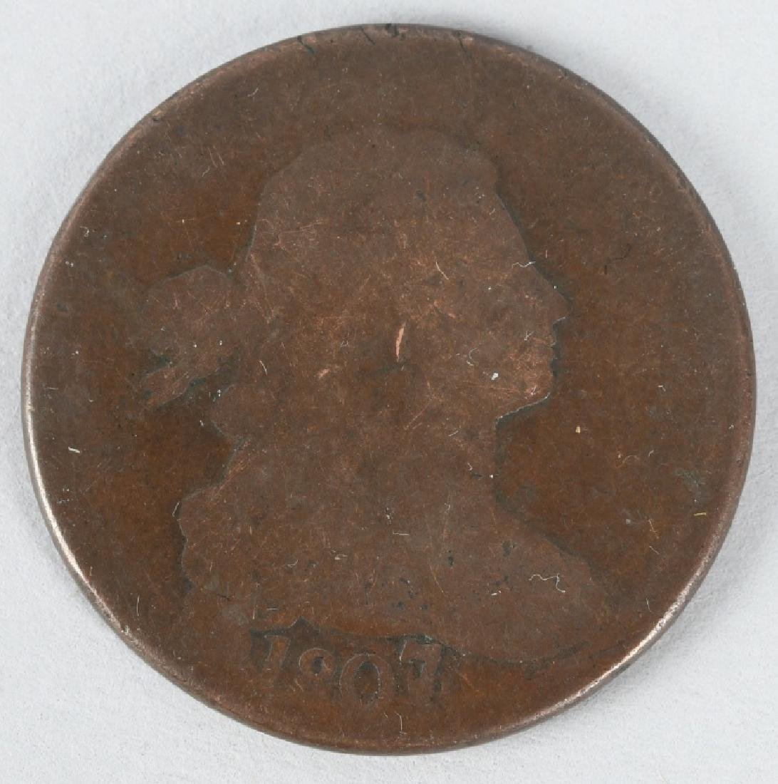 1807 over 6 DRAPPED BUST LARGE CENT ERROR COIN