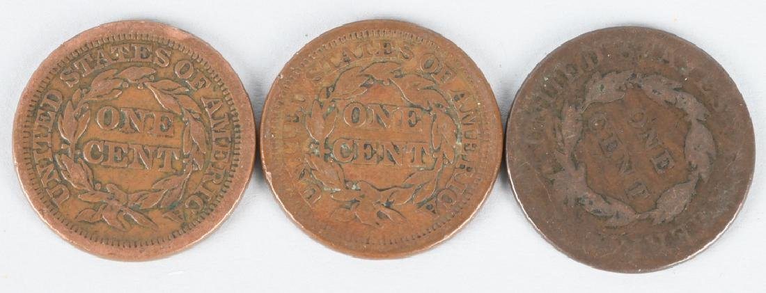 3- LARGE CENTS 1852-1850-1814 - 2