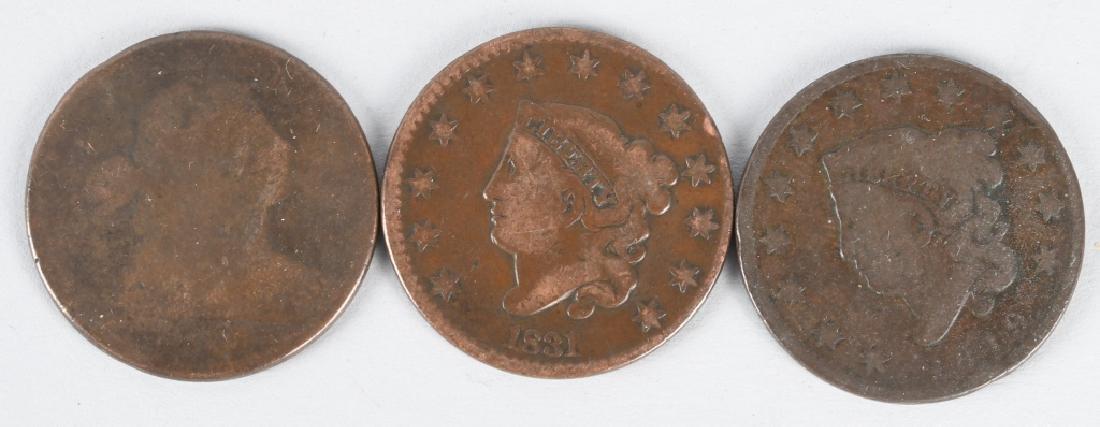3- LARGE CENTS 1807-1831-1819