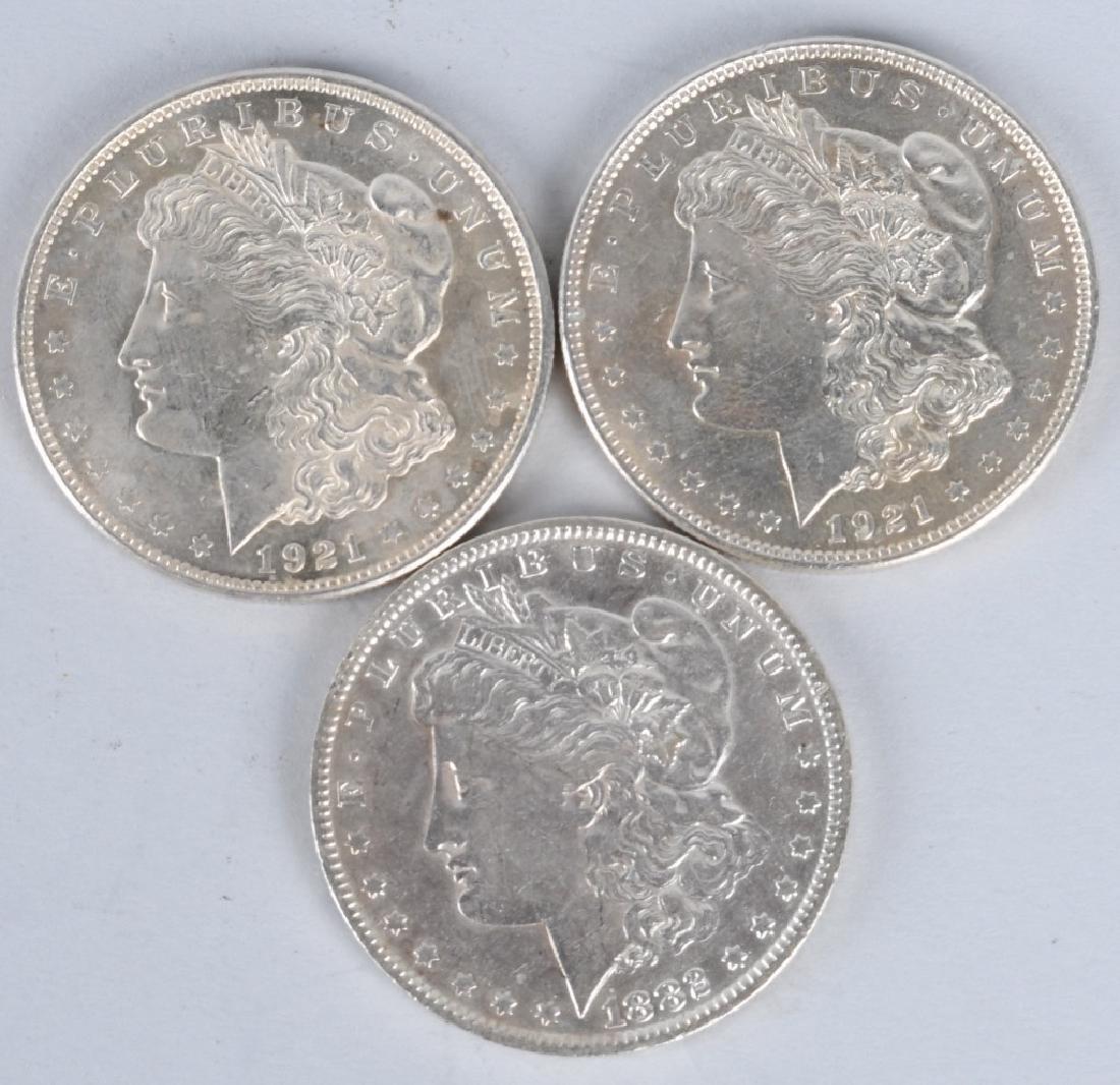 3- MORGAN SILVER DOLLARS