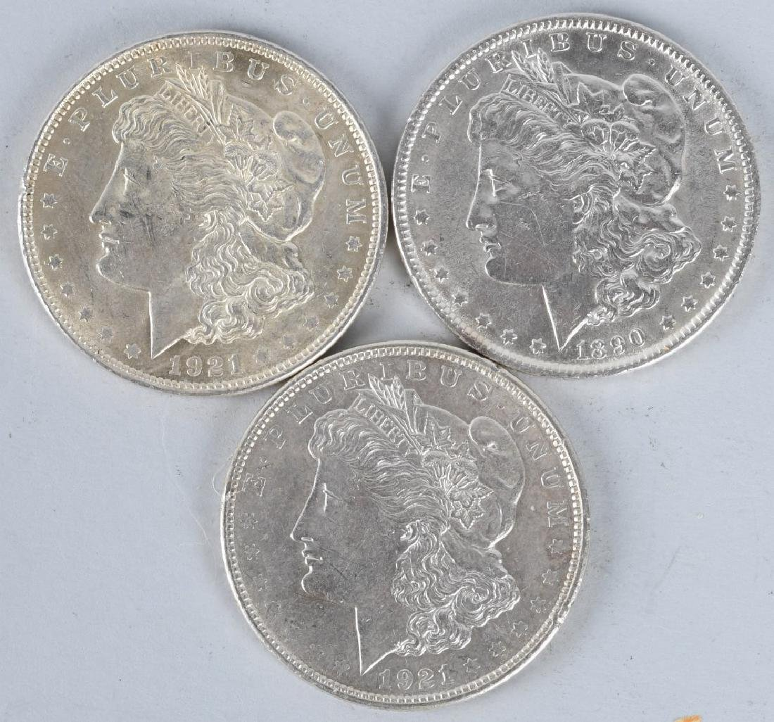 3- MORGAN SILVER DOLLARS