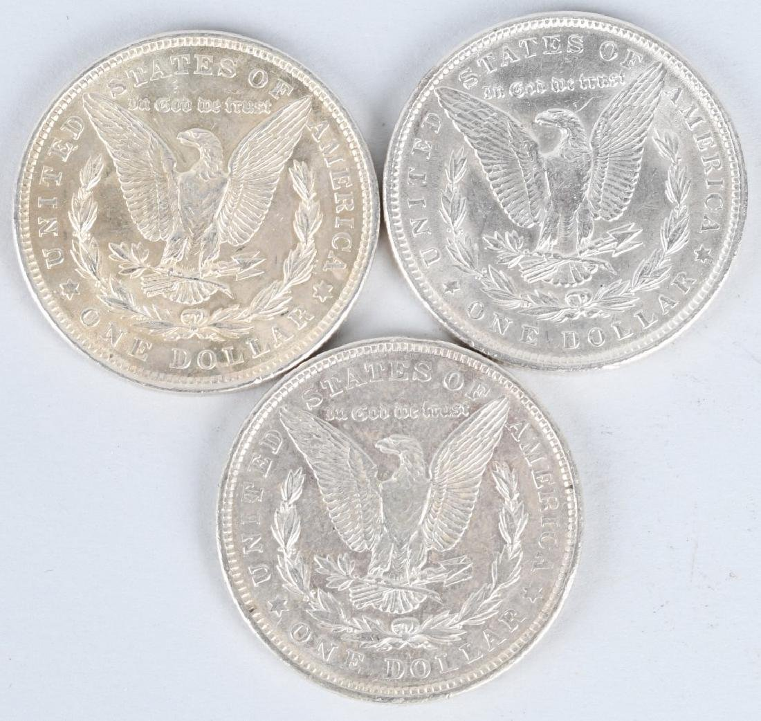 3- MORGAN SILVER DOLLARS - 2