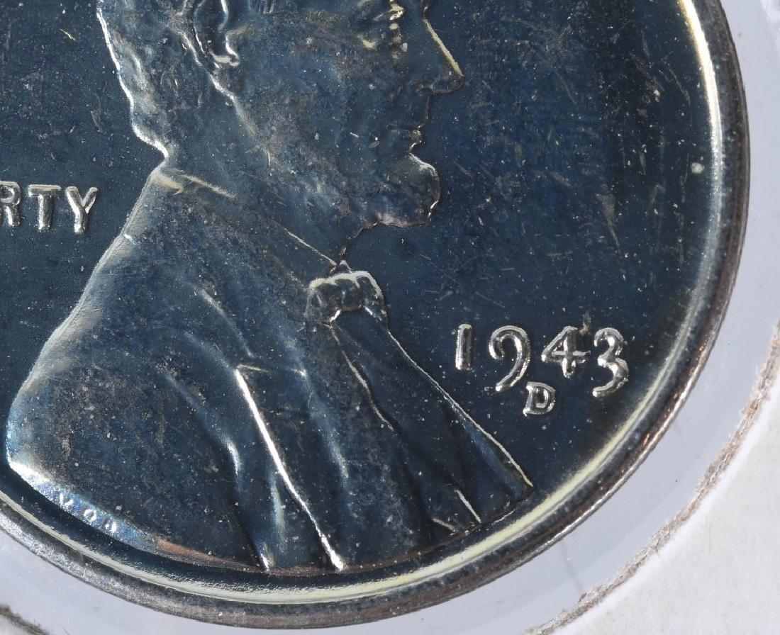 1943-D STEEL PENNY ERROR DOUBLE DIE w/ 3,4, & D - 2