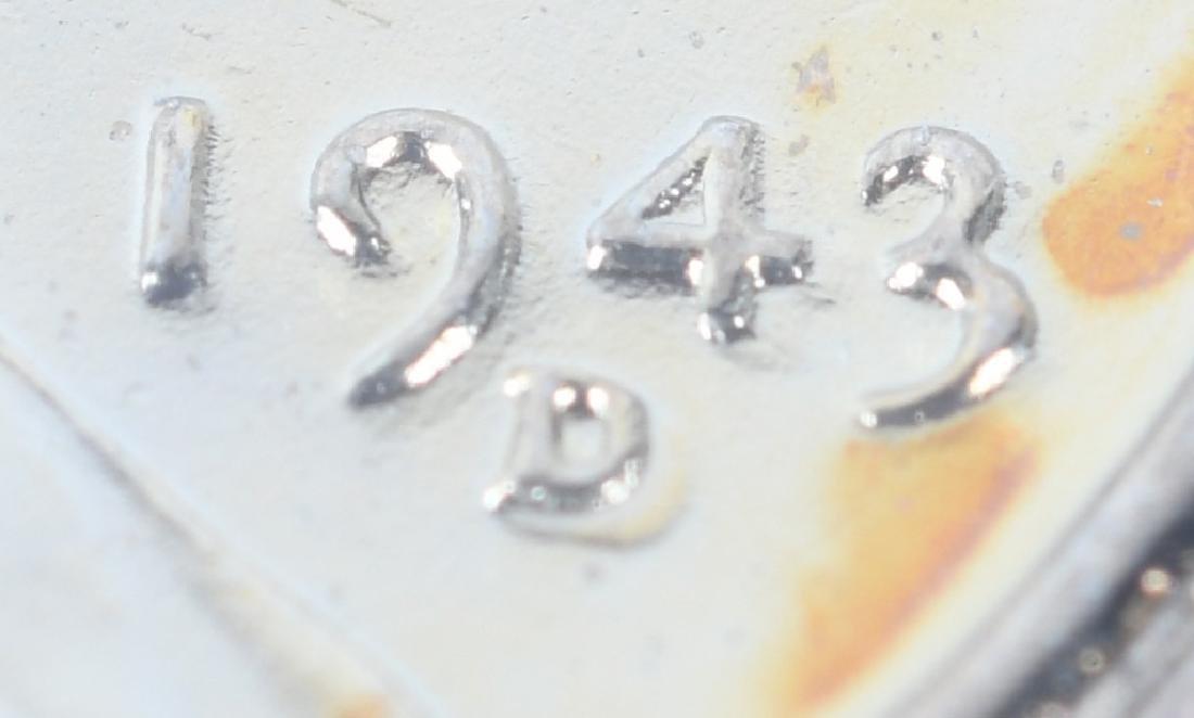1943-D STEEL PENNY ERROR DOUBLE DIE w/ 3,4, & D - 4