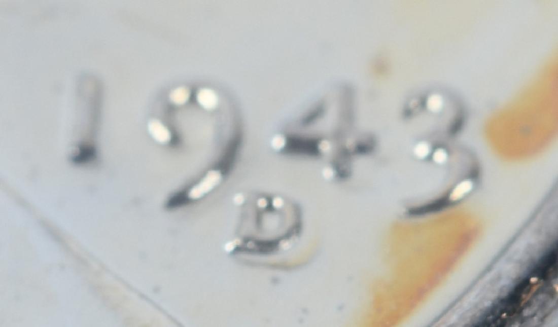 1943-D STEEL PENNY ERROR DOUBLE DIE w/ 3,4, & D - 5