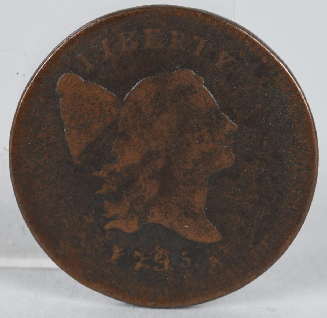 1795 US HALF CENT LIBERTY CAP HEAD FACING RIGHT