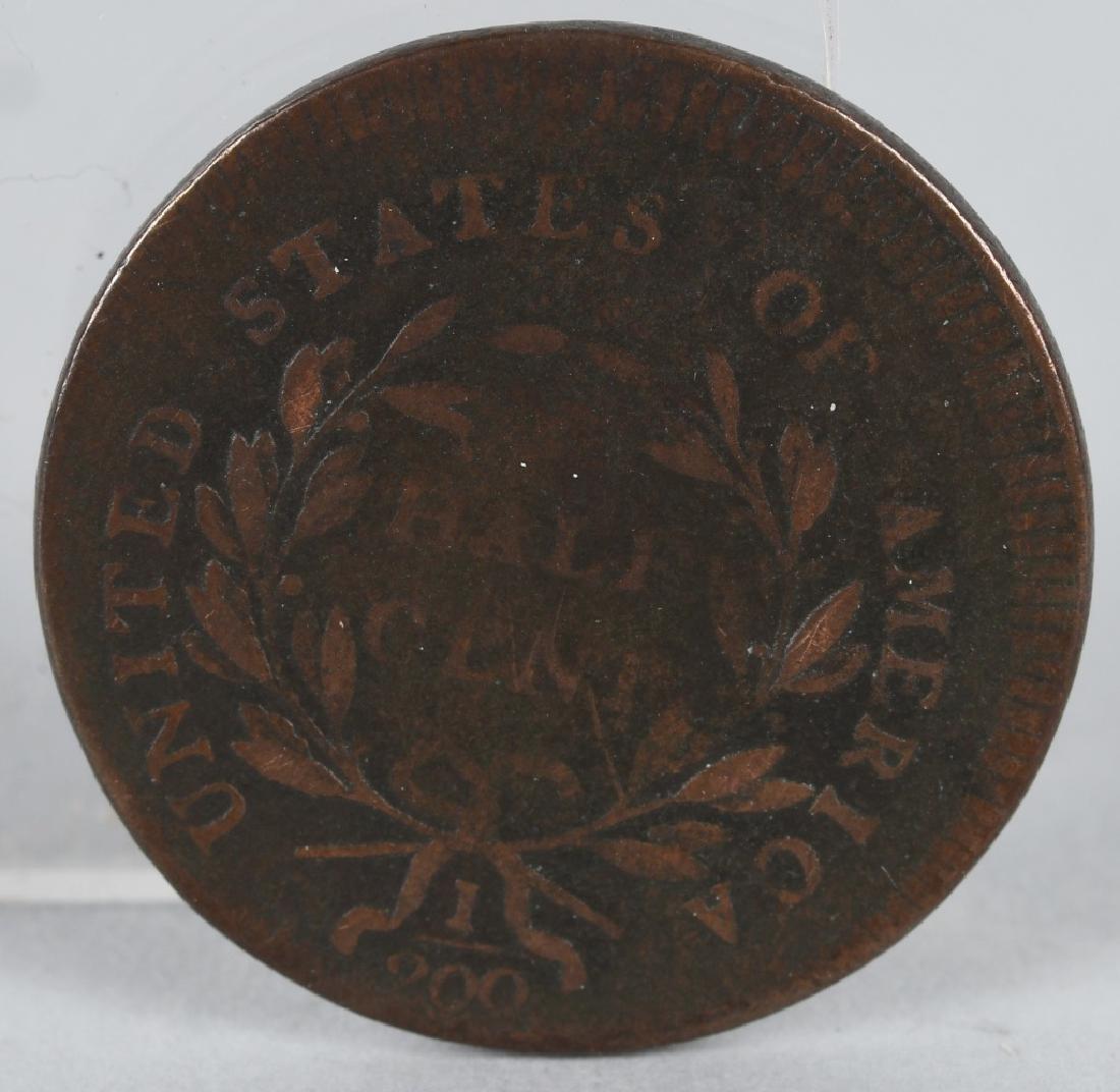 1795 US HALF CENT LIBERTY CAP HEAD FACING RIGHT - 2