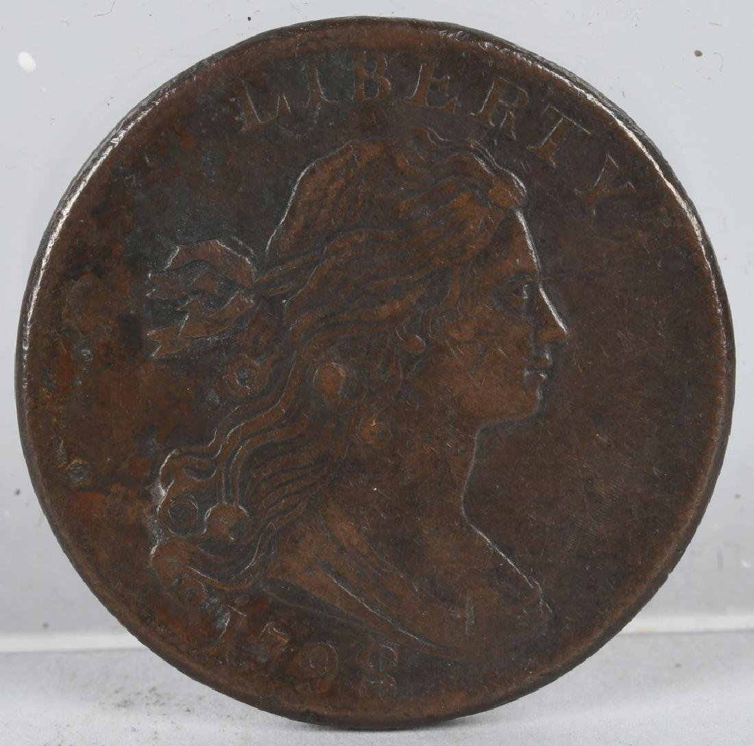 1798 US DRAPE BUST ONE CENT