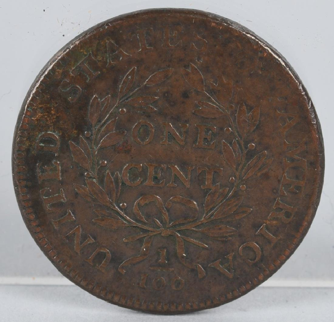 1798 US DRAPE BUST ONE CENT - 2
