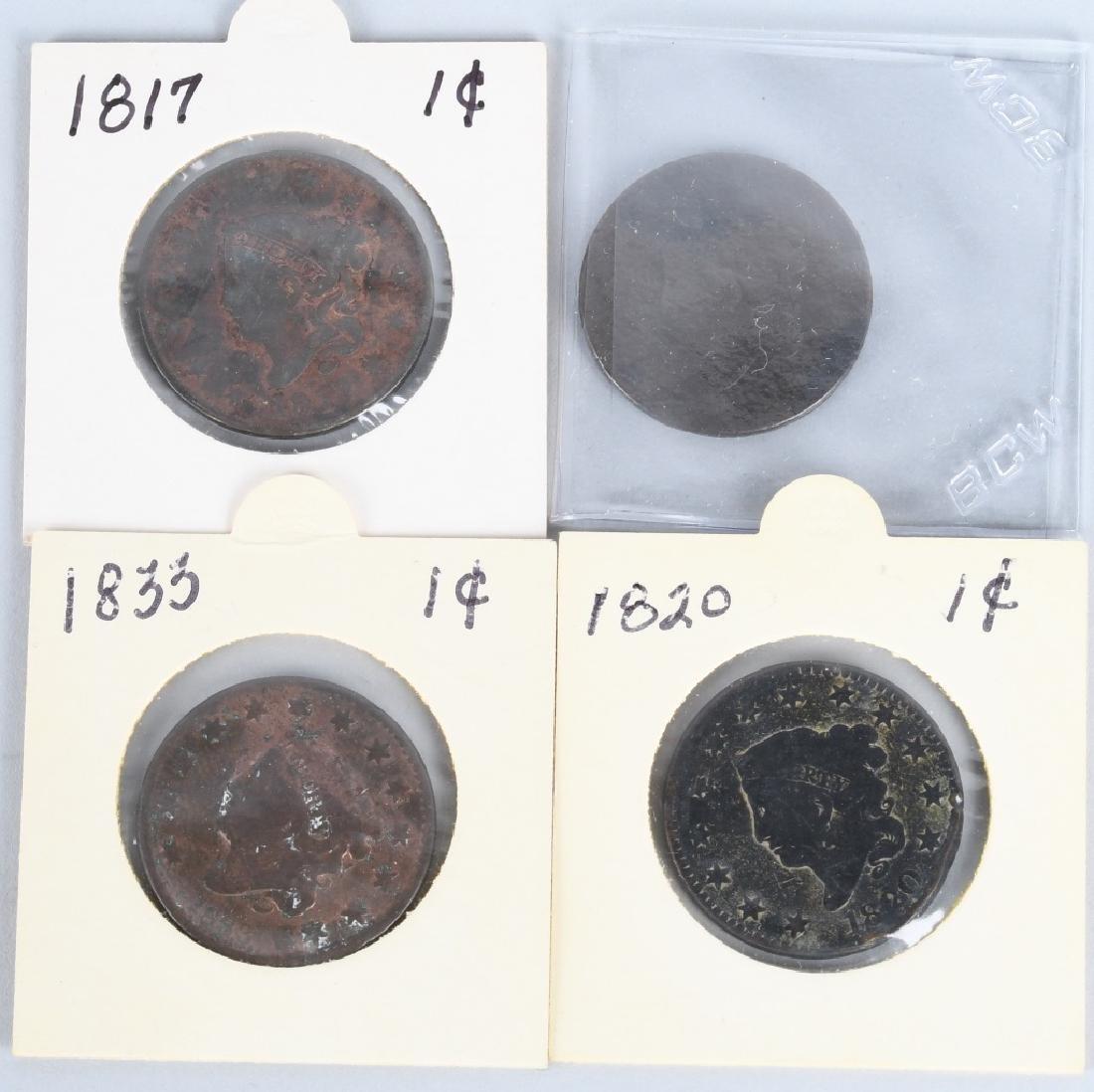 17- 1816-1839 US CLASSIC & LIBERTY HEAD LARGE CENT - 6