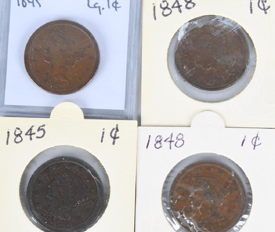 37- US LIBERTY HEAD LARGE CENTS 1840-1856 - 2