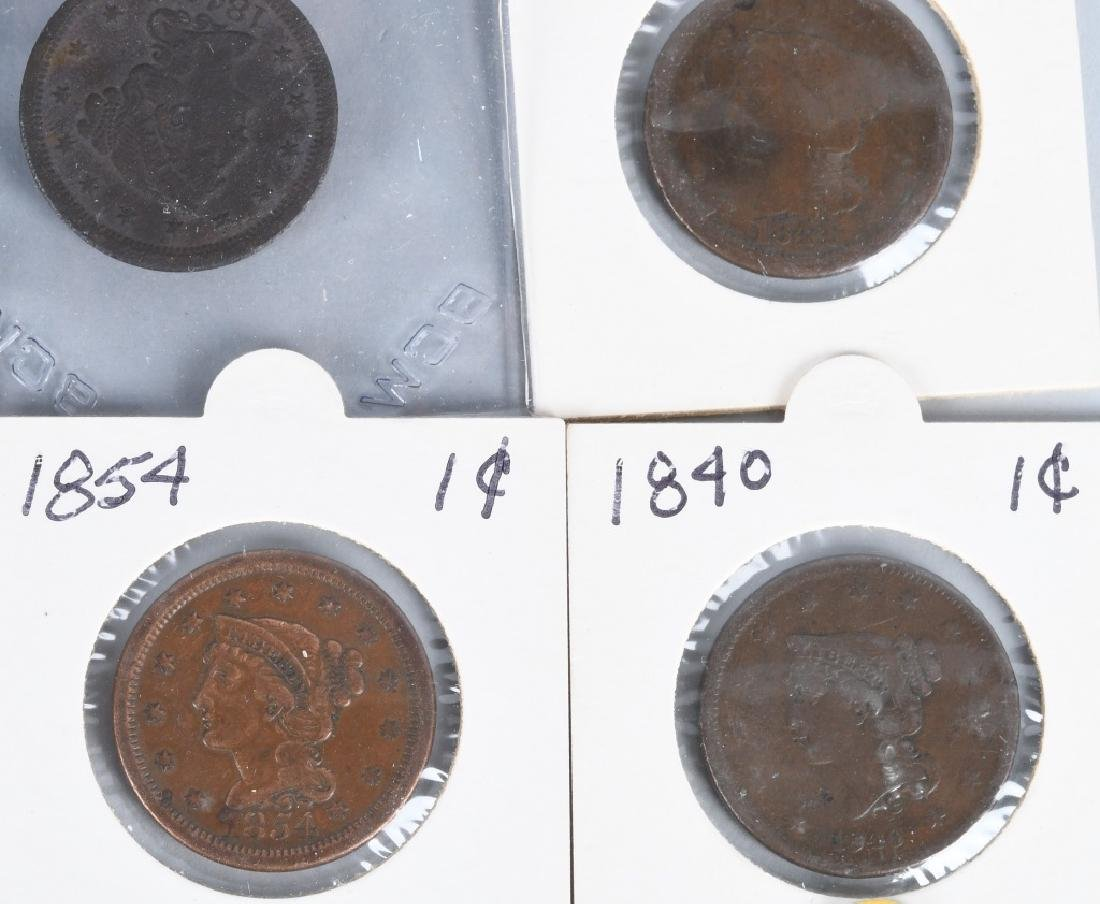 37- US LIBERTY HEAD LARGE CENTS 1840-1856 - 4