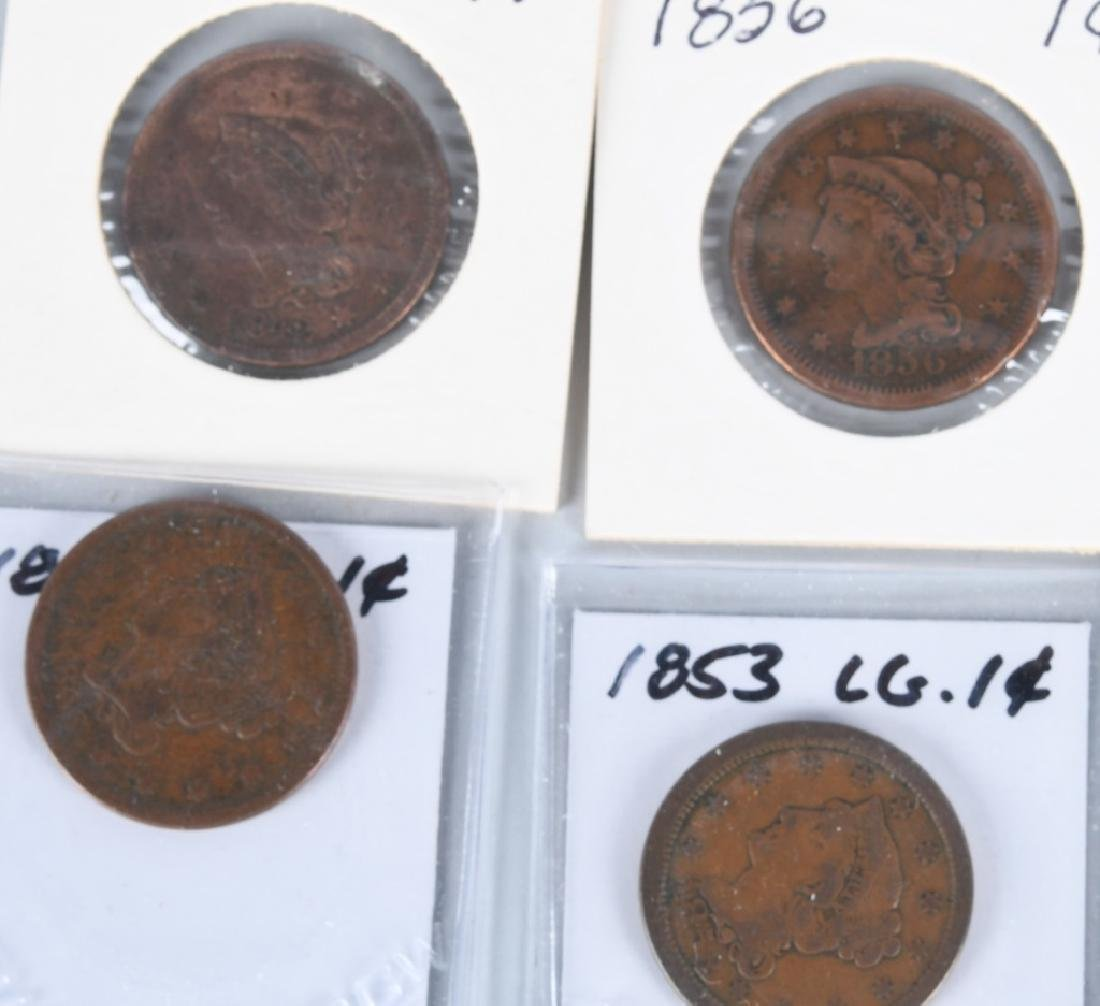 37- US LIBERTY HEAD LARGE CENTS 1840-1856 - 5