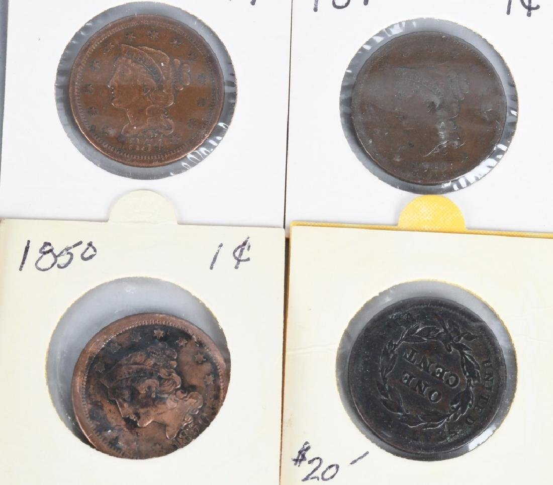 37- US LIBERTY HEAD LARGE CENTS 1840-1856 - 7