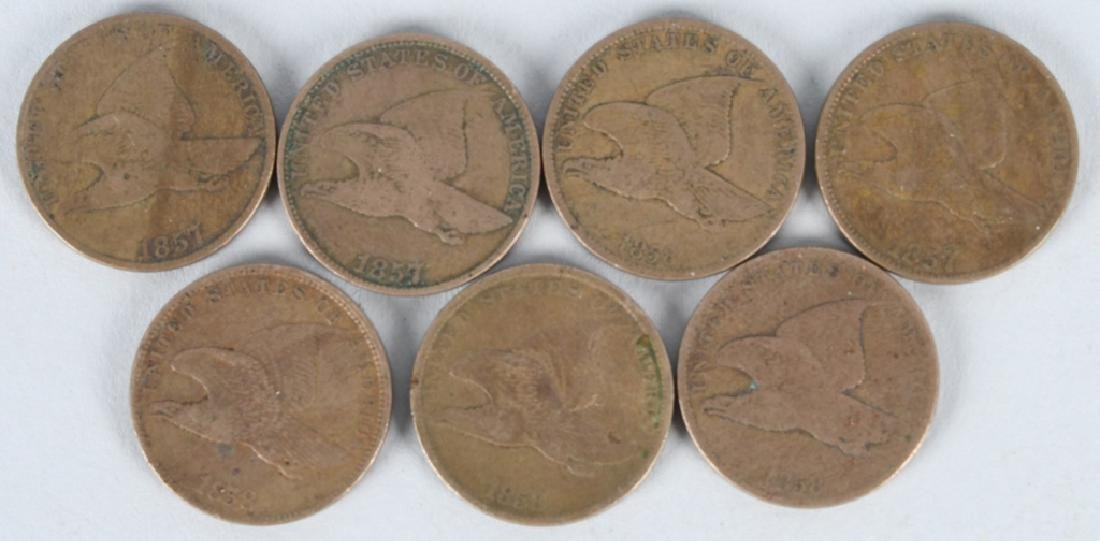 1 & 2 CENT US COIN LOT FLYING EAGLE - 4