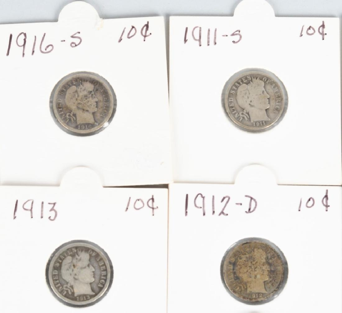 23 pc US HALF DIME & DIME LOT1854-1916 PCGS - 2