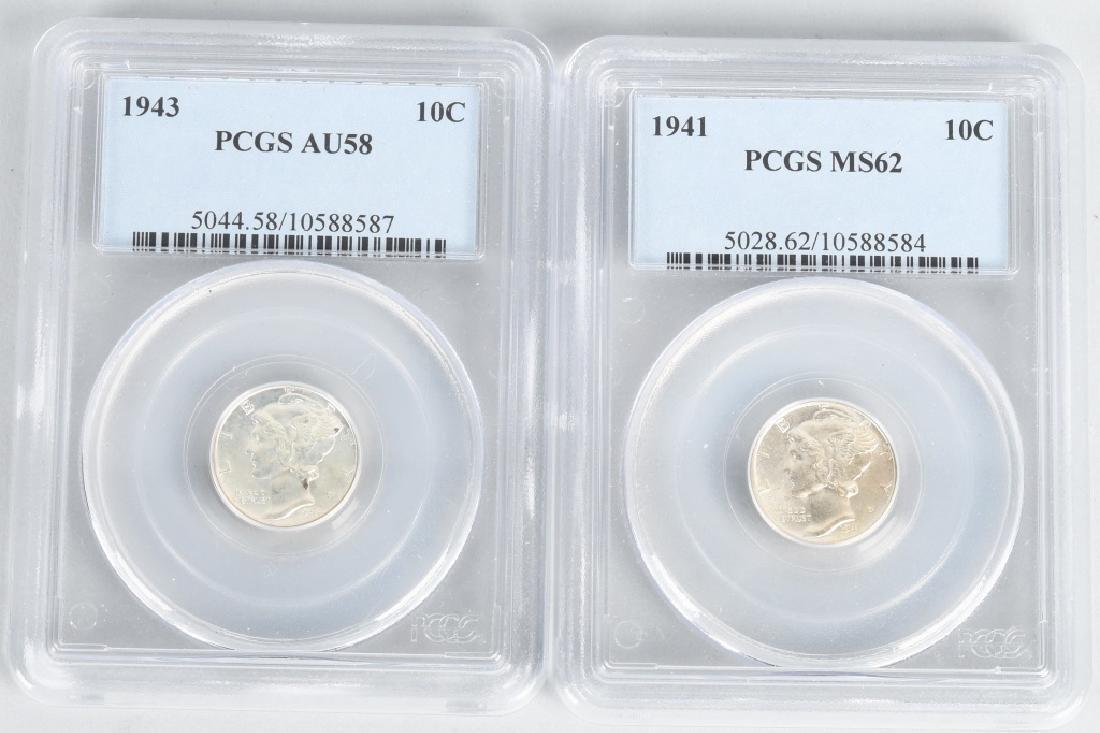 23 pc US HALF DIME & DIME LOT1854-1916 PCGS - 5
