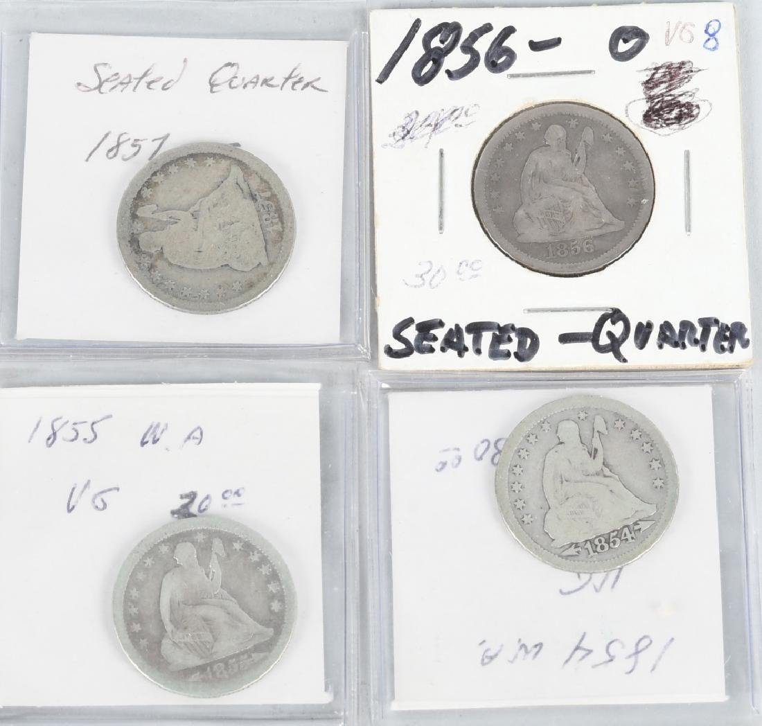 4- 1854-1857 US SEATED QUARTERS