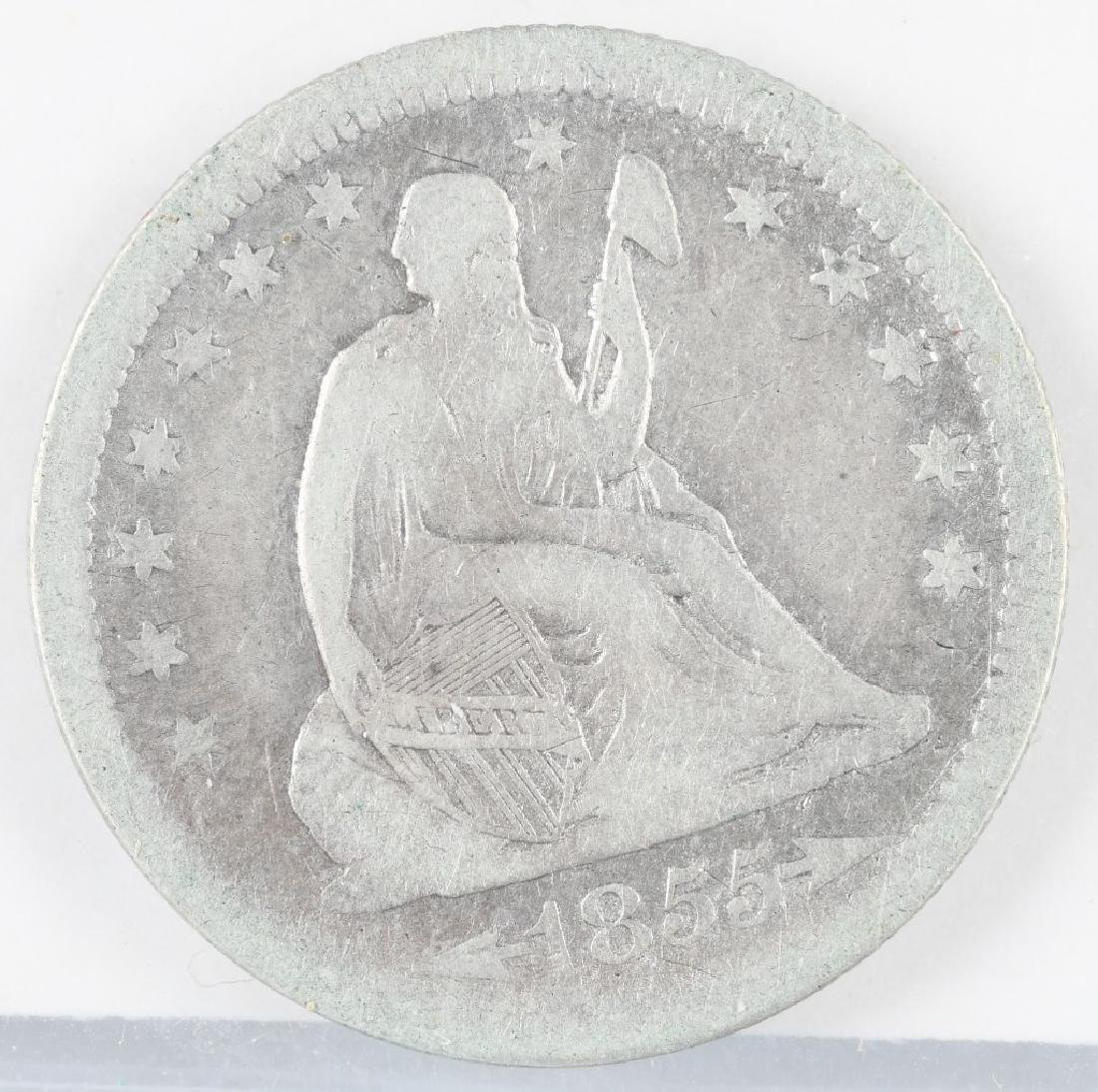 4- 1854-1857 US SEATED QUARTERS - 2