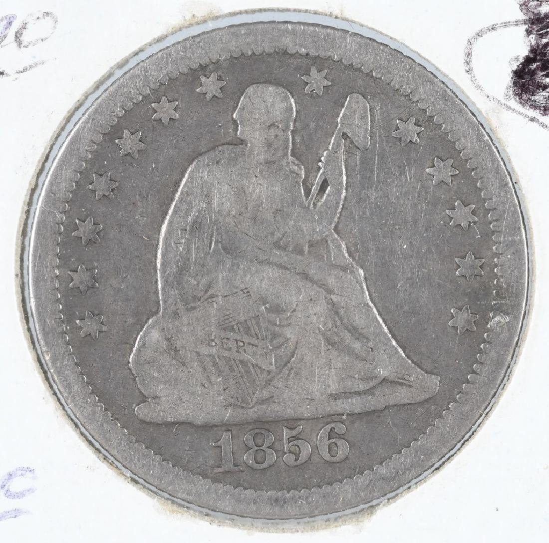 4- 1854-1857 US SEATED QUARTERS - 3