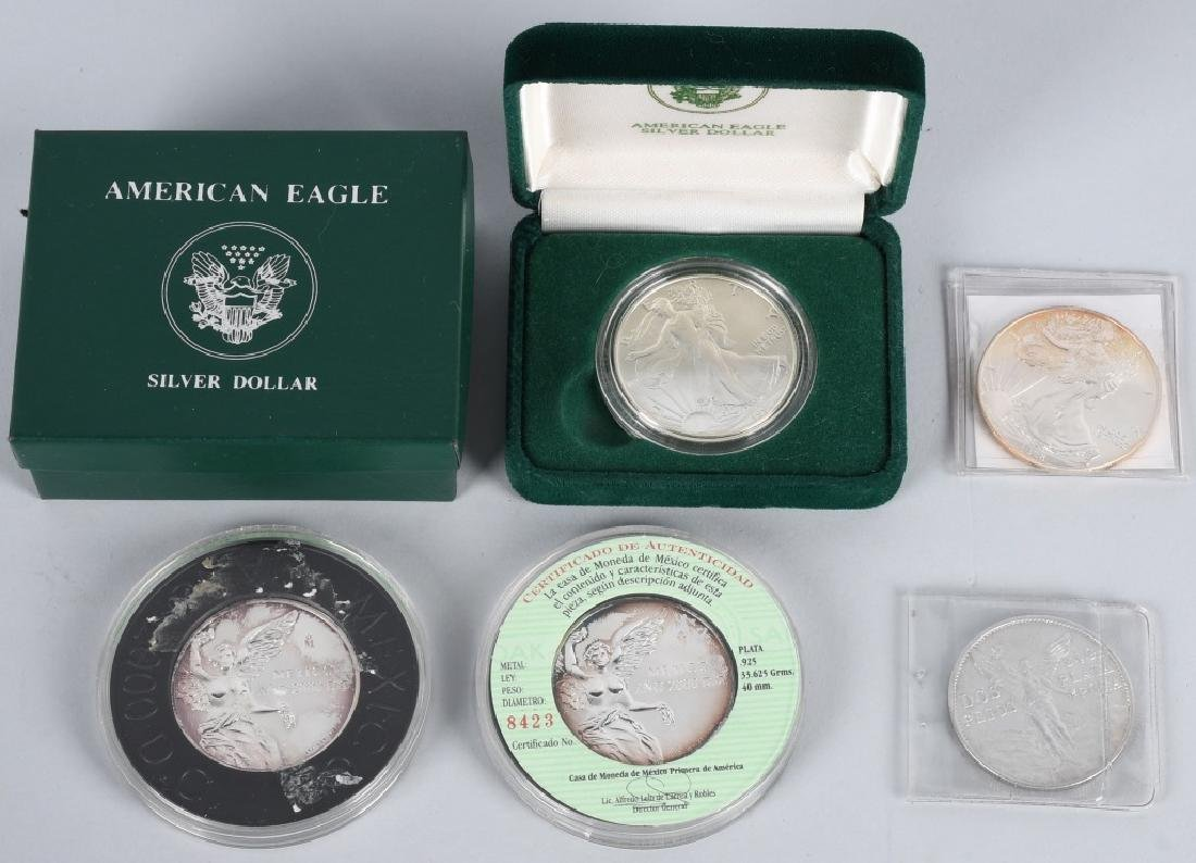 5- 925 & 999 AMERICAN EAGLES & MEXICO SILVER