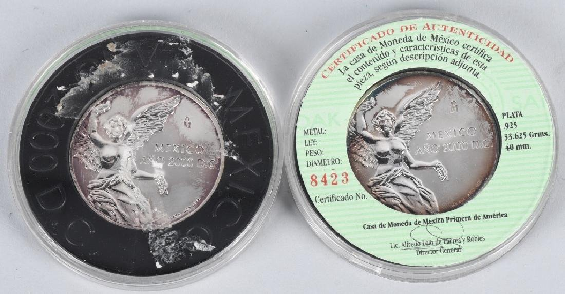 5- 925 & 999 AMERICAN EAGLES & MEXICO SILVER - 2