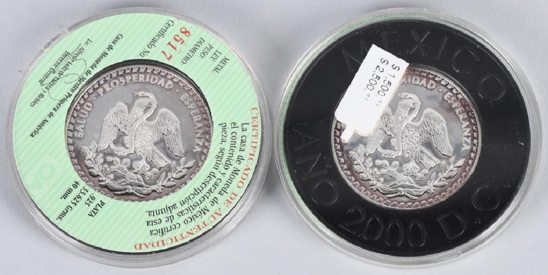 5- 925 & 999 AMERICAN EAGLES & MEXICO SILVER - 3