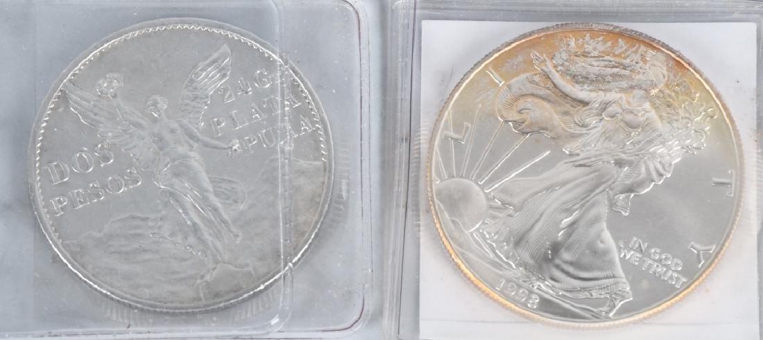 5- 925 & 999 AMERICAN EAGLES & MEXICO SILVER - 5
