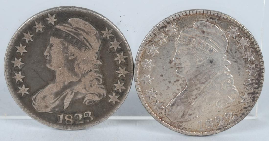1822 & 1823 US BUST HALF DOLLAR