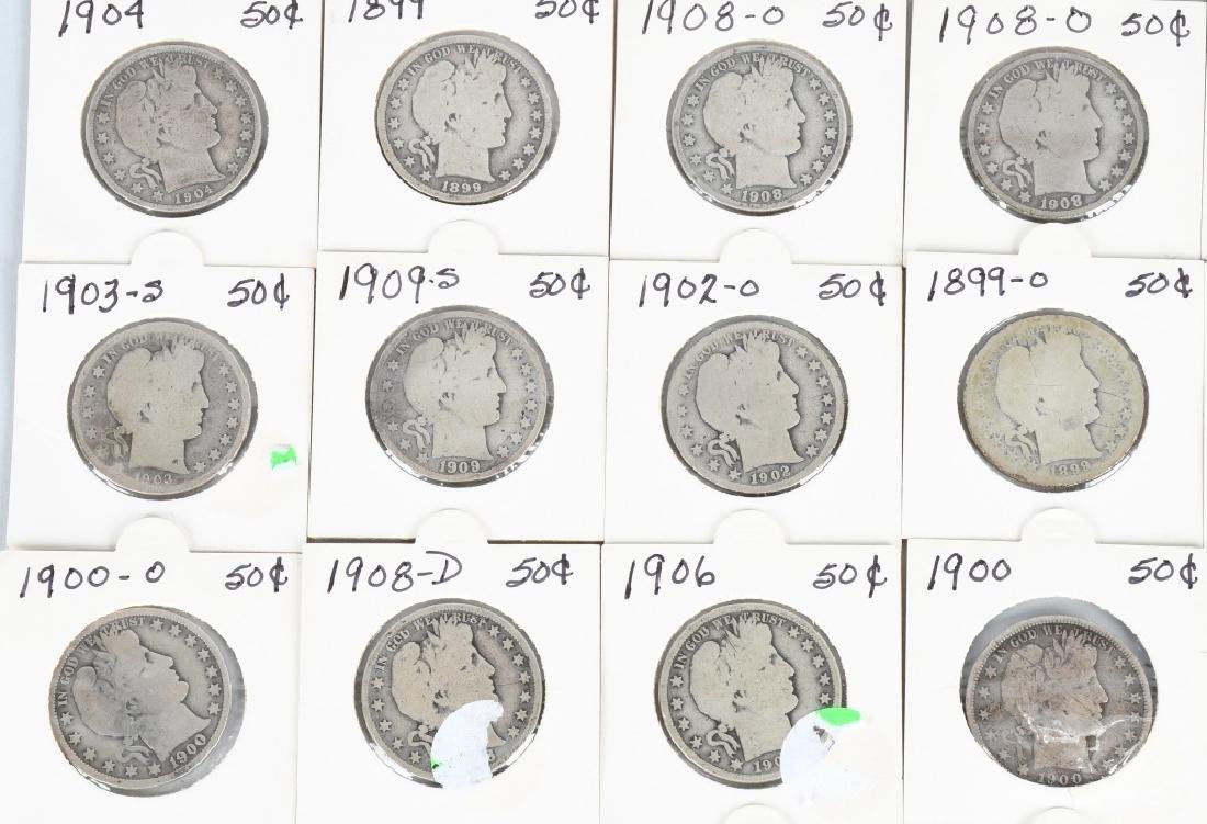 40- US BARBER HALF DOLLARS $20 face value - 2