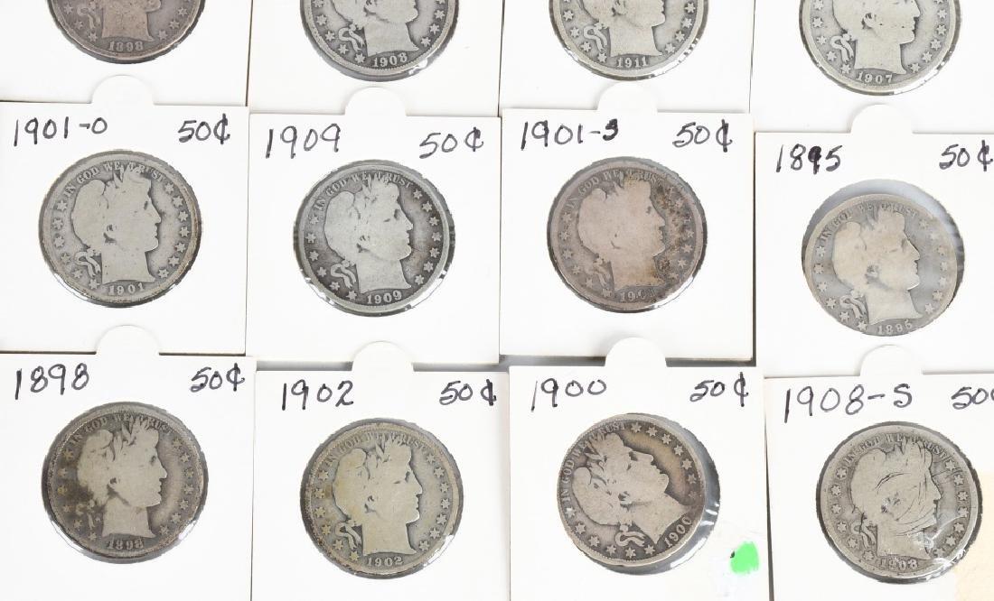 40- US BARBER HALF DOLLARS $20 face value - 4