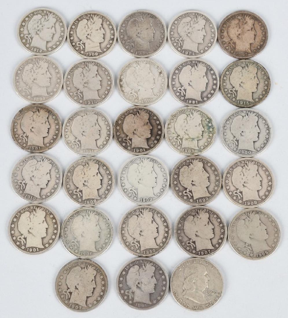 28- US BARBER AND FRANKLIN HALF DOLLARS
