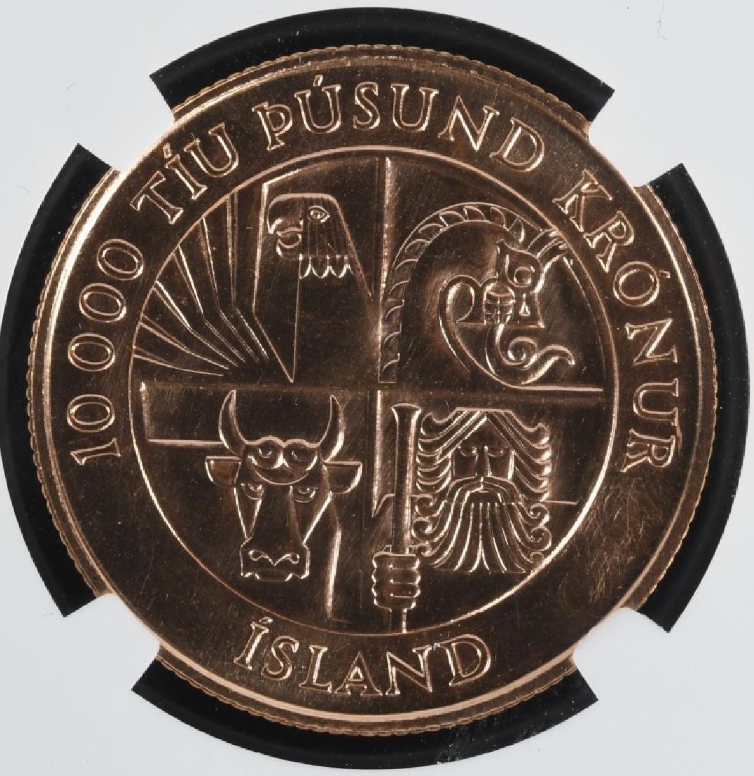 1974 Iceland Gold 10,000 Kronur NGC MS67 - 4