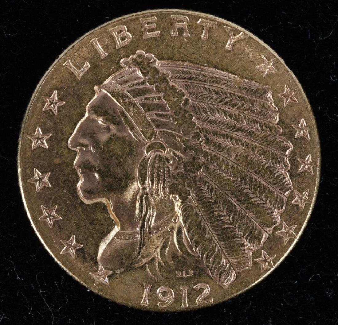 1912 $2.50 Indian Gold Quarter Eagle