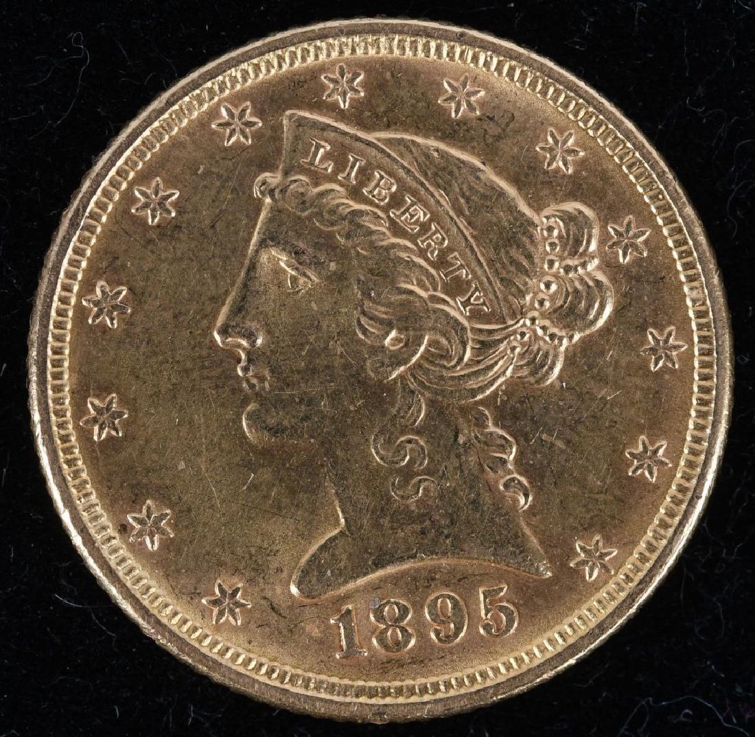 1895 $5 Liberty Gold Half Eagle