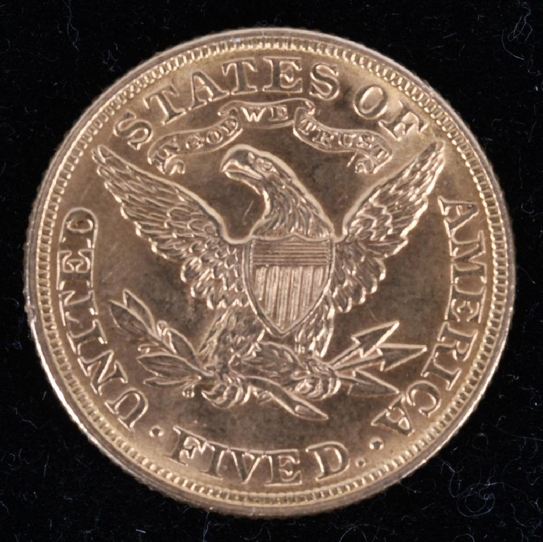 1895 $5 Liberty Gold Half Eagle - 2